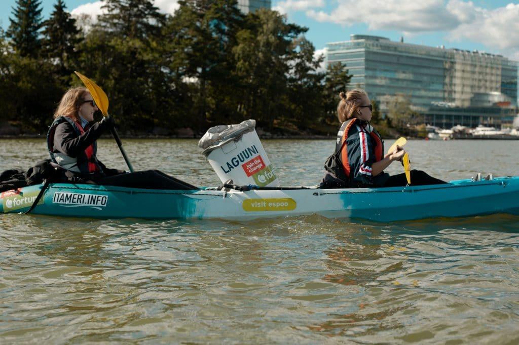 Itämeri plogging nosti merestä yli 1000 kiloa roskaa